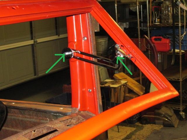Technical - Model A Windshield Slider Pivot Points Measurement