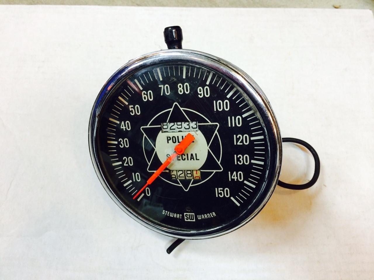 vintage stewart warner police speedometer large face tach hand jpg police speedo