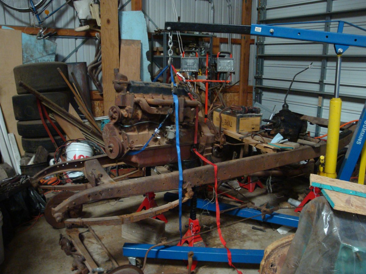 pulling the 194 Chevy 6 from roadster frame.jpg