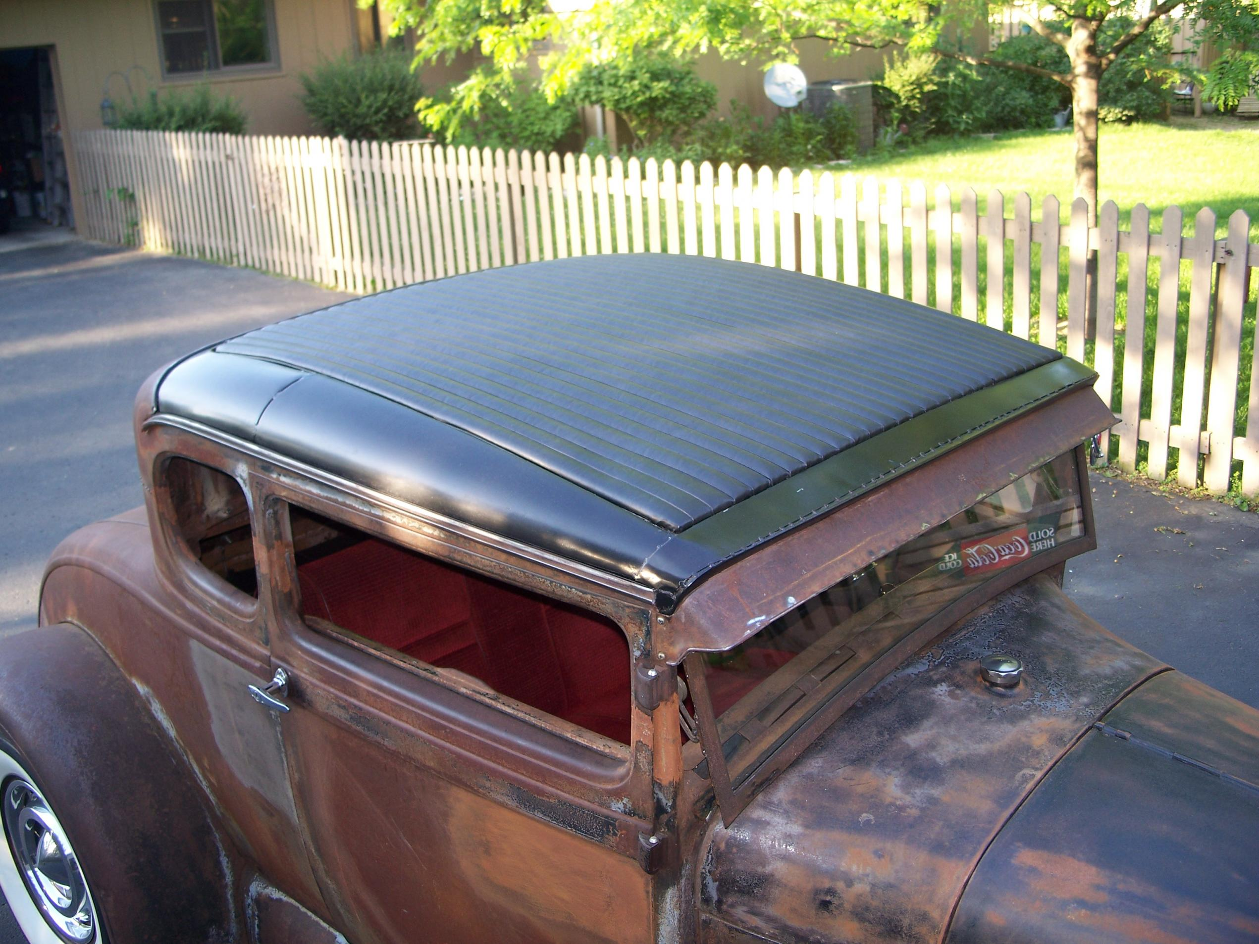 Pleated Top Insert On 1928 Coupe The H A M B