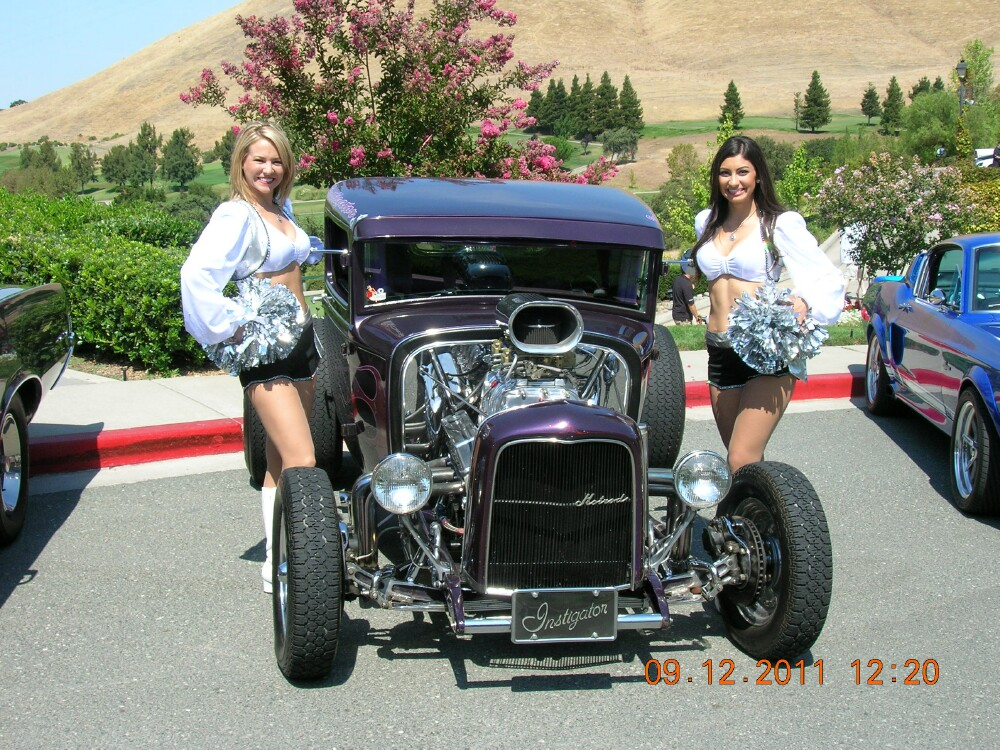 Raiderettes and hot rod.jpg