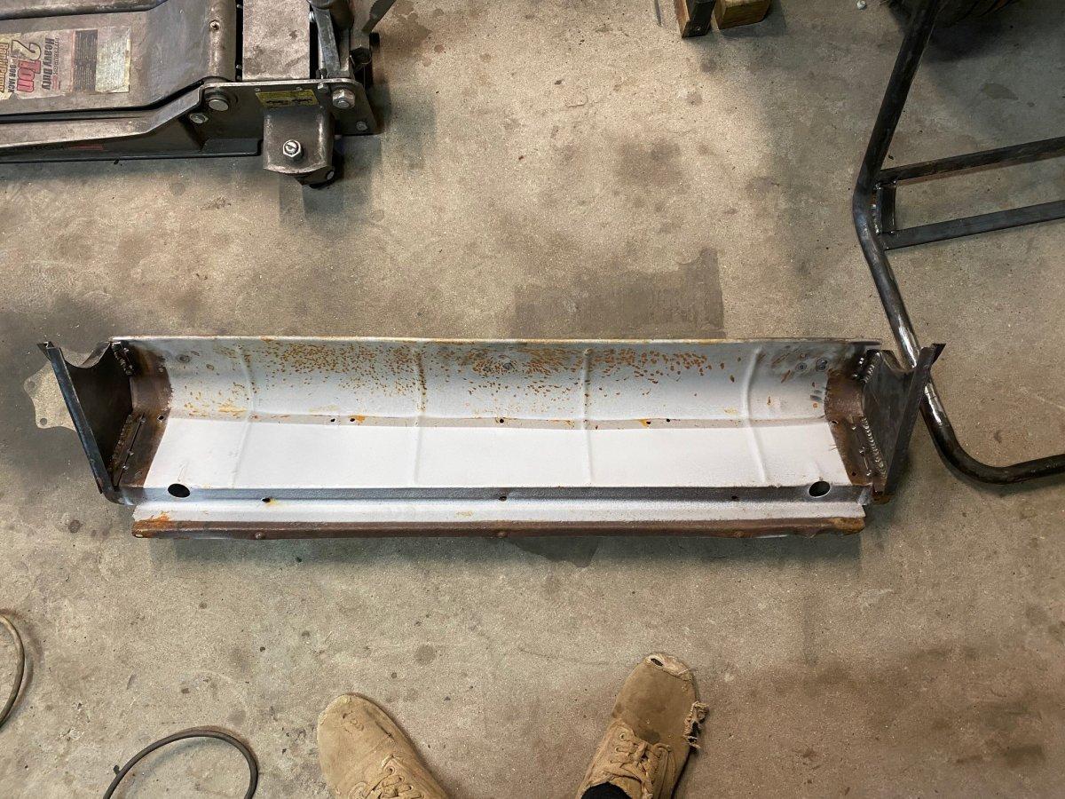 Rear seat riser legs welded.jpg