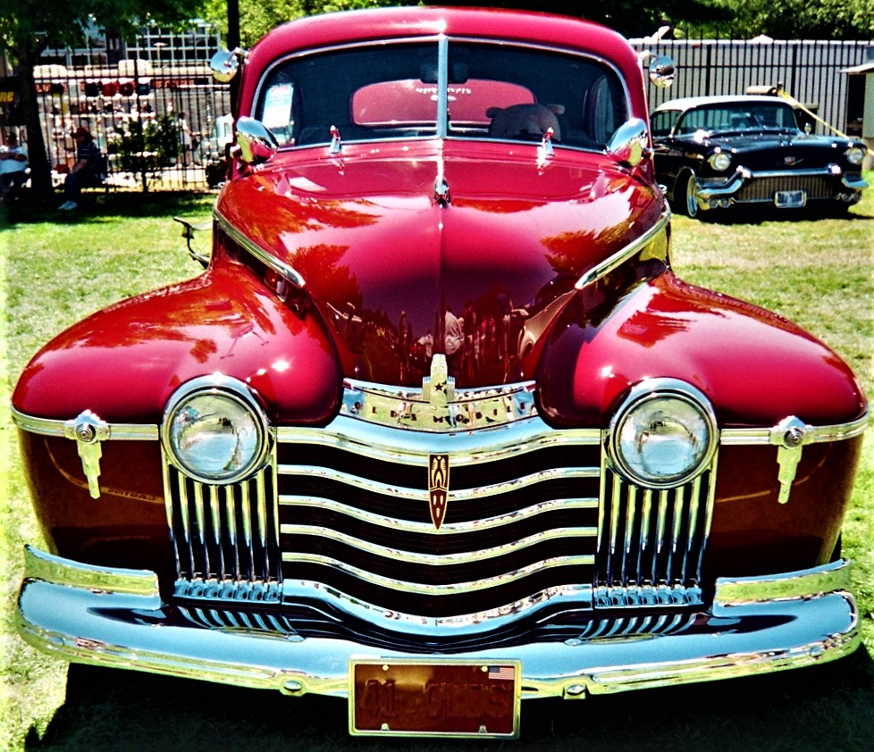 red 41 olds nose and grille.jpg