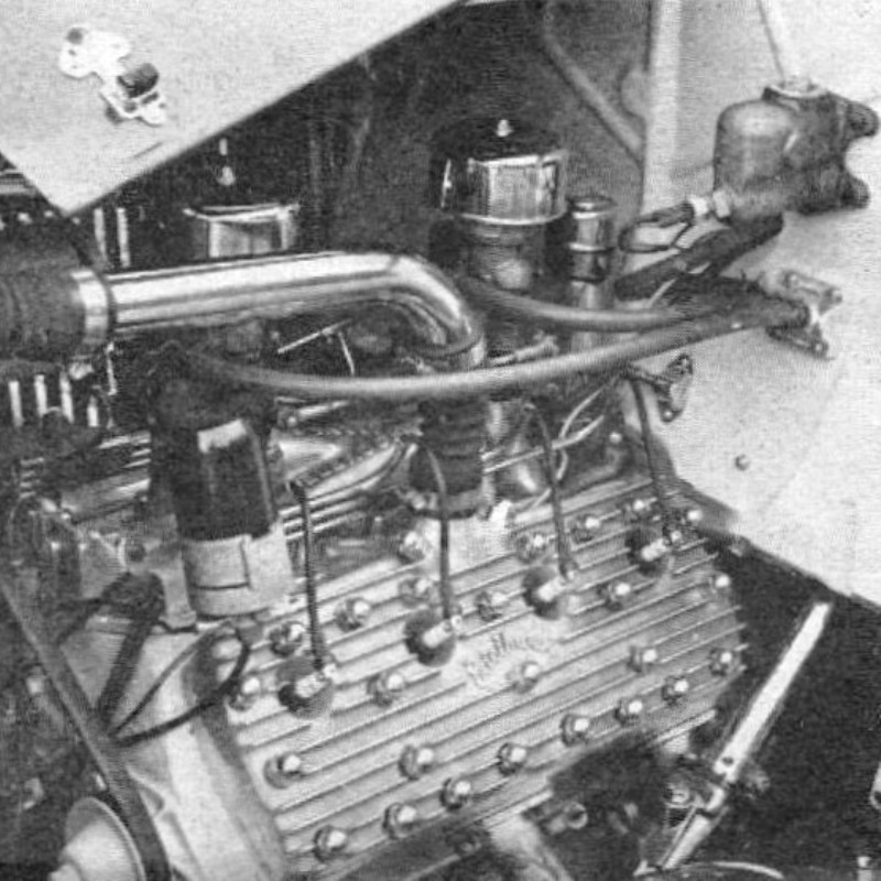 Rod Builder & Customizer - July '58 - Queen 'B' article - page 42 - Engine.jpg