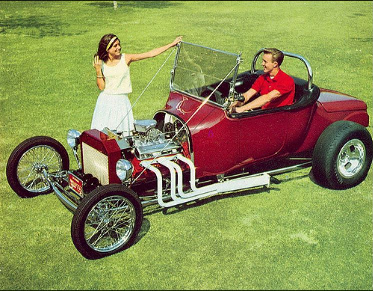 Ron Hurd's 1919 Dodge roadster powered by a 1963 Corvette 327, 1965.JPG