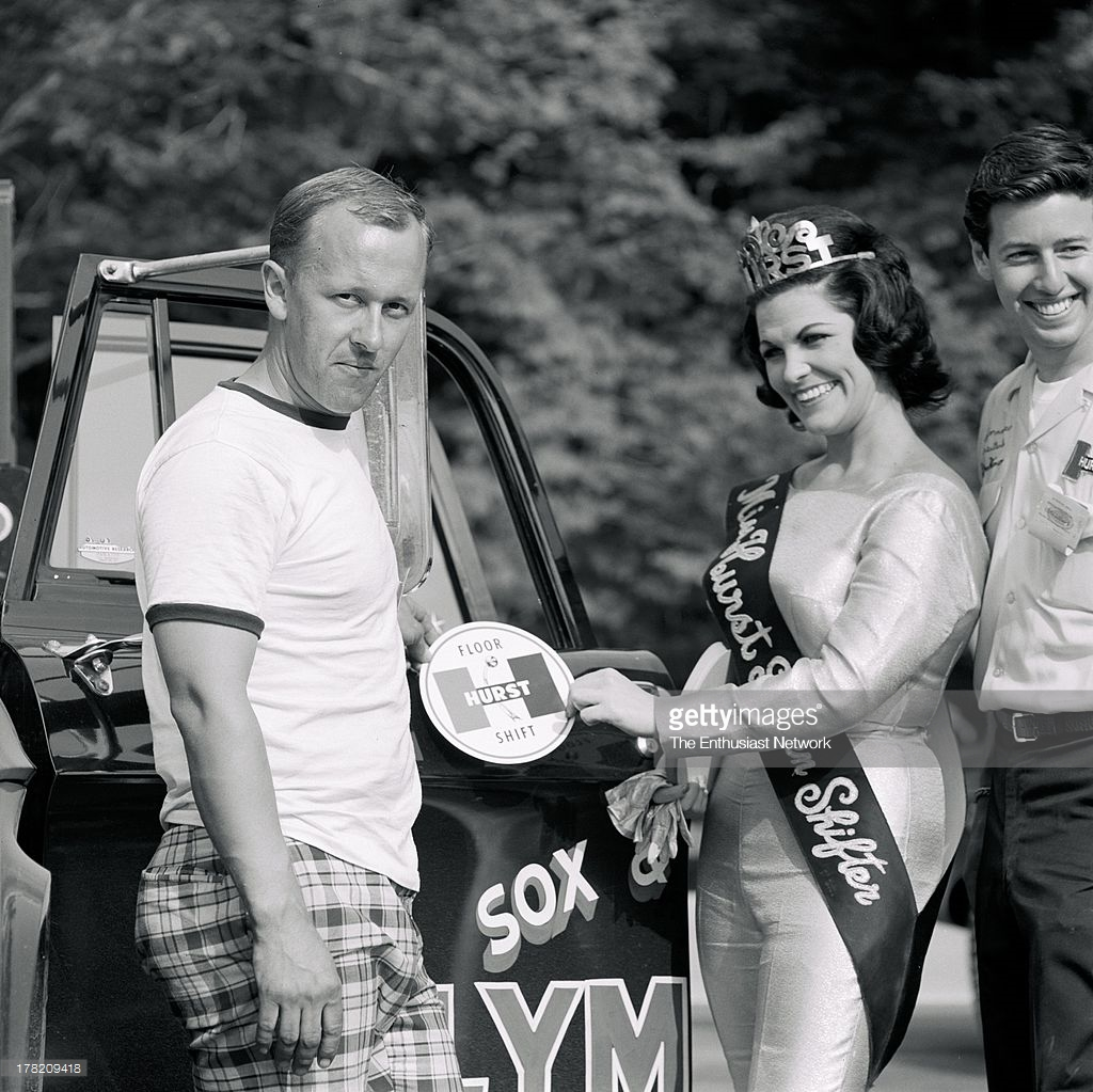 Ronnie Sox and the original Miss Hurst Golden Shifter Pat Perky Patty Flannery..jpg