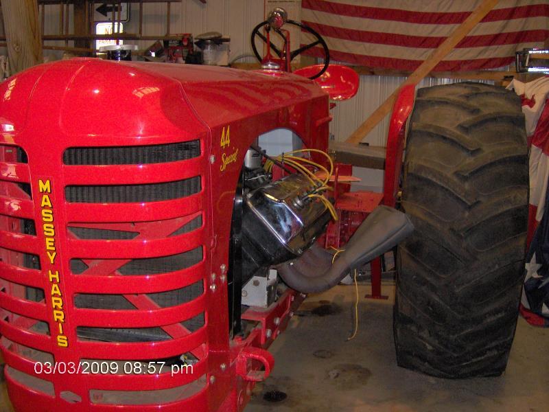 Roy Tallon's HEMI-powered '54 MASSEY HARRIS 44 Special tractor in 2009 (1).jpg