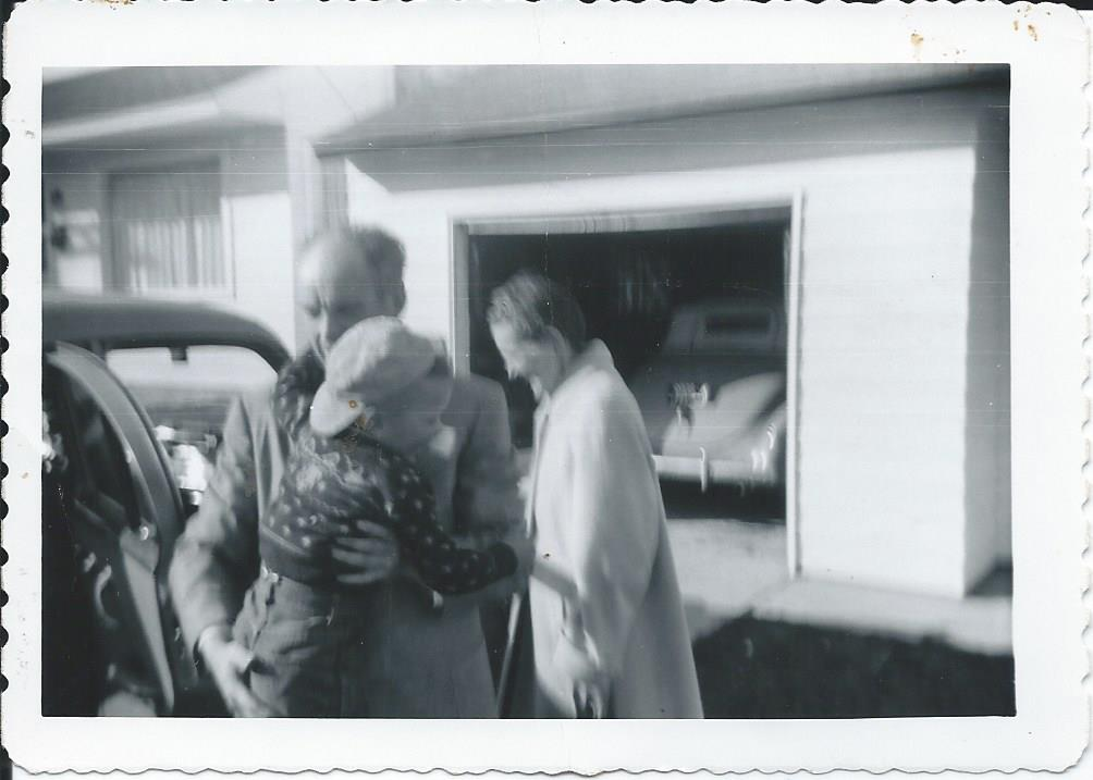 Sam and Doris Alm with Sam Profit 1952.jpg