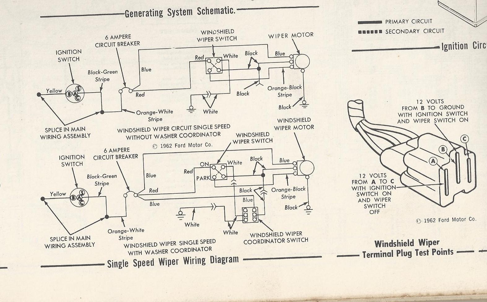 63 Falcon wiper motor wiring | The H.A.M.B.
