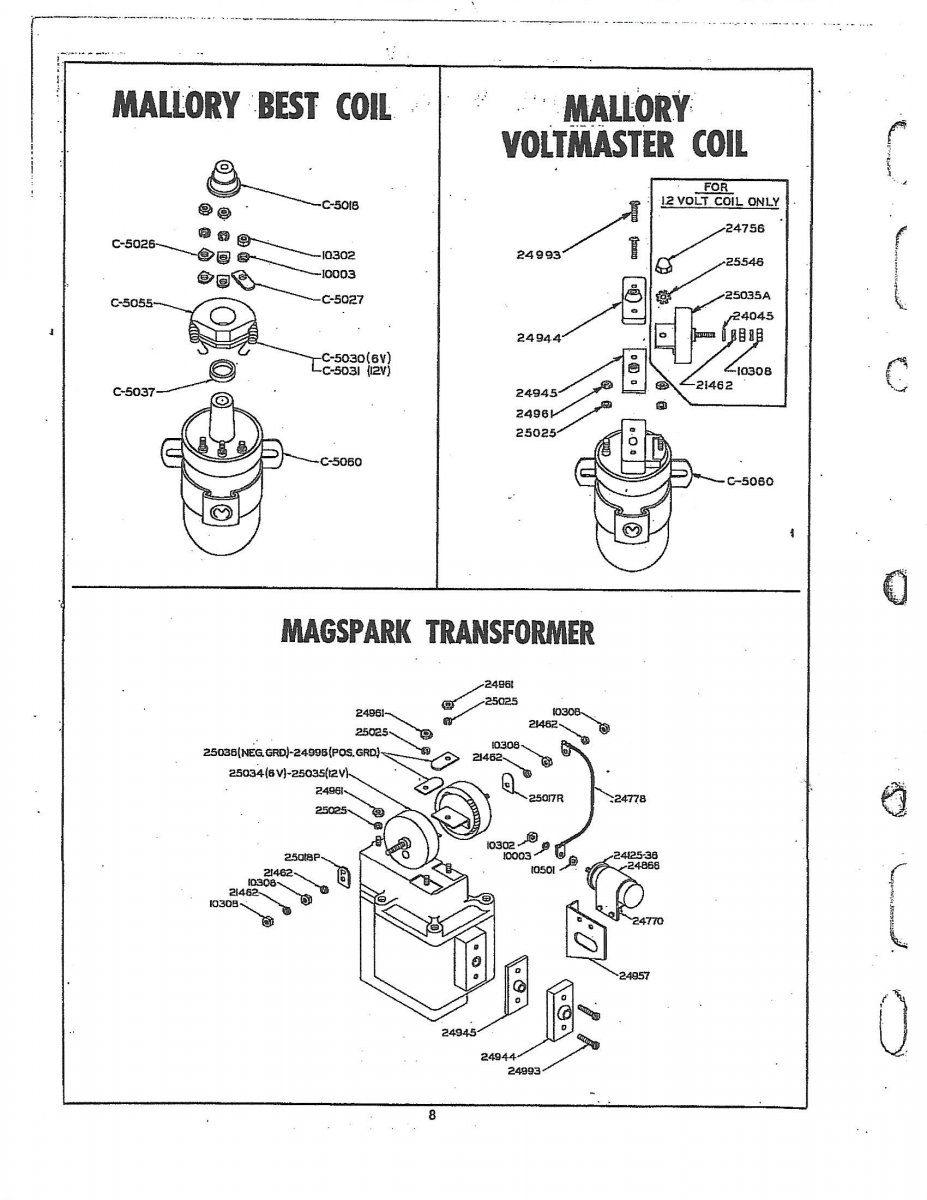 mallory distributor diagrams, mallory distributor identification, mallory wiring electonic, mallory distributor 2wire, on mallory dist wiring diagram