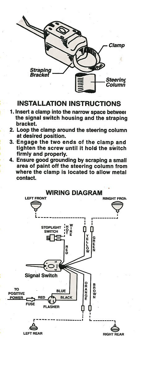 wiring diagram for old chrome clamp on turn signal – Universal Turn Signal Wiring Diagram