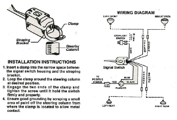 napa 900 turn signal switch wiring schematic signal stat
