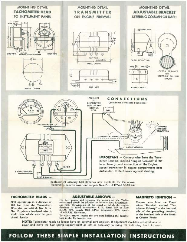 Great Stewart Warner Tachometer Wiring Diagram Photos Electrical