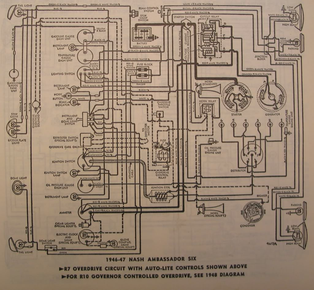 1941 Oldsmobile Wiring Diagram Trusted Diagrams 47 Plymouth 1935 Nash Schematic Electrical