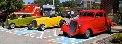 Terraplane parked with Lobeck Cars @Solon.jpg