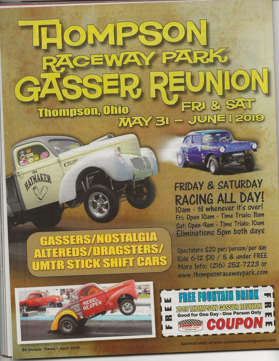 Event Coverage - Thompson Gasser Reunion 2019 - When is it