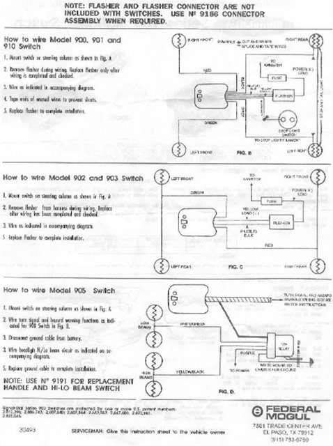technical how to wire a guide 6002 turn signal switch. Black Bedroom Furniture Sets. Home Design Ideas