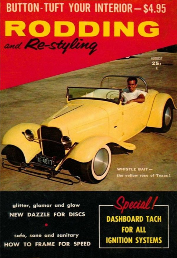 Tweety Bird on cover of August 1959 Rodding & Restyling.JPG