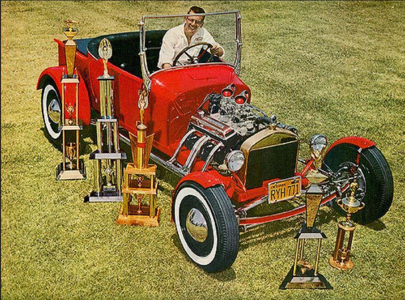 Warren Swartzendruber & his '27 Ford pickup, 1962.JPG