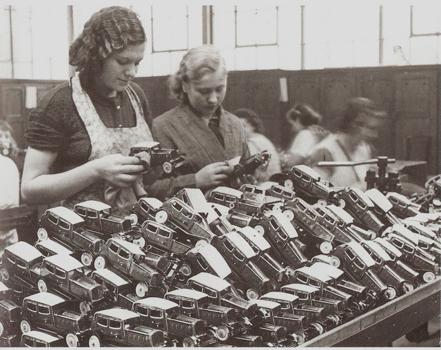Women at work in a toy car factory in Walthamstow, London, ca. 1930s.jpg