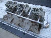 SOLD-Vintage Fenton 265 283 327 Chevy Tri Power 3 Deuce