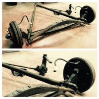 1935-1940 Ford Front end drop axle   The H A M B