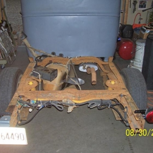 1946 Chevy truck/1994 S10 frame swap build pics