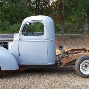 five oh 1946 chevy truck1994 s10 frame swap