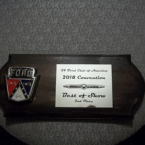 We received a second place award at the 2018 Memphis convention.