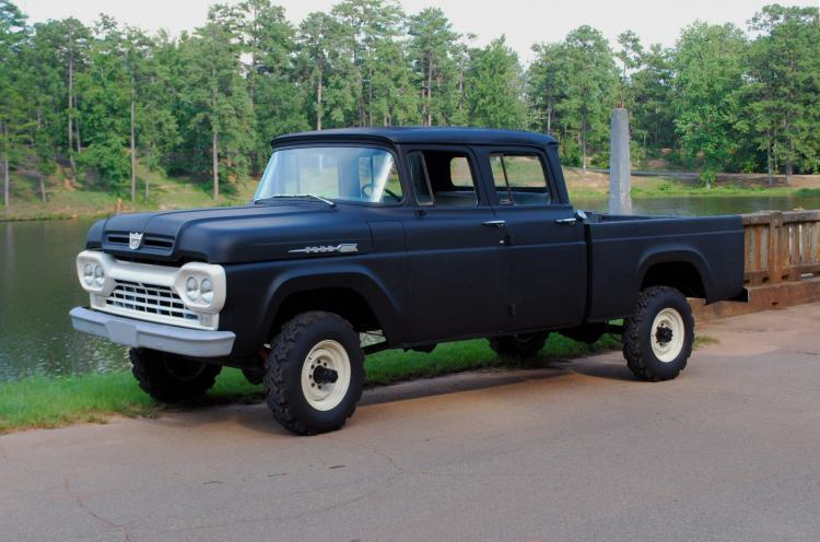 Dodge Power Wagon For Sale >> 1960 ford f250 4x4 crew cab, all stock, 292 v8 with t98 4 speed, dana 60's front and rear with 4 ...