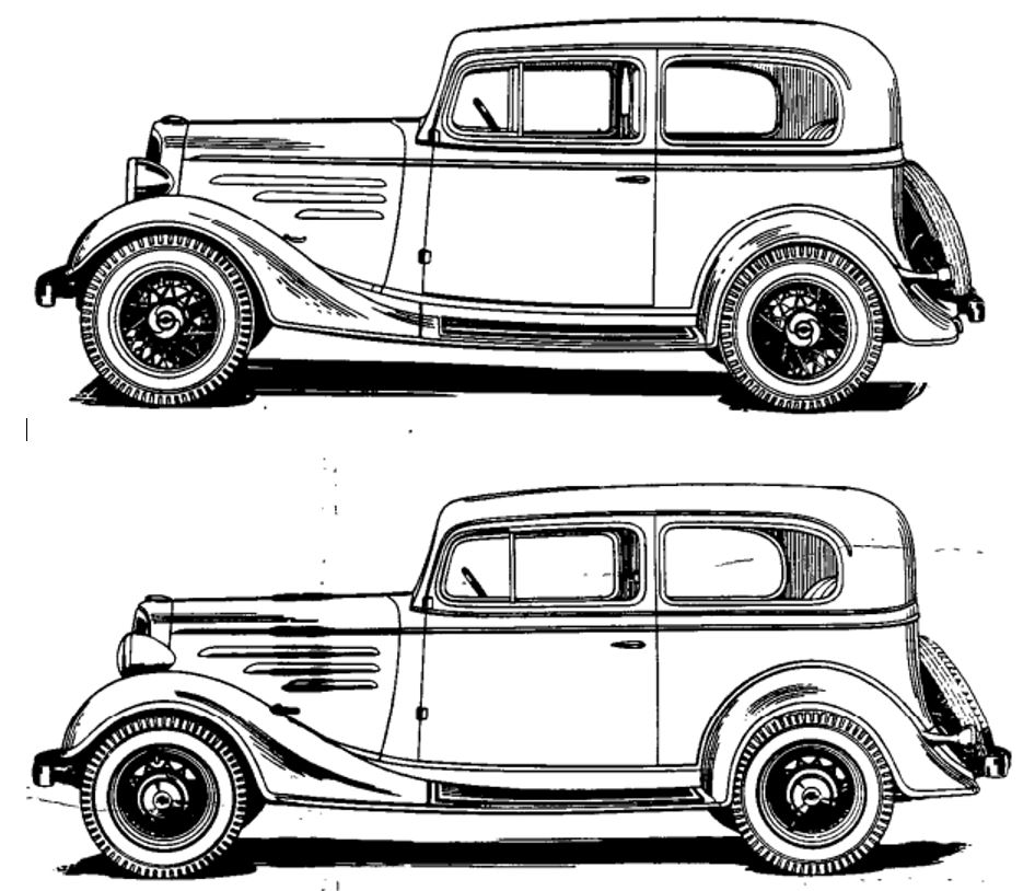Technical - 1934 Chevy Master vs  Standard Question | The H A M B