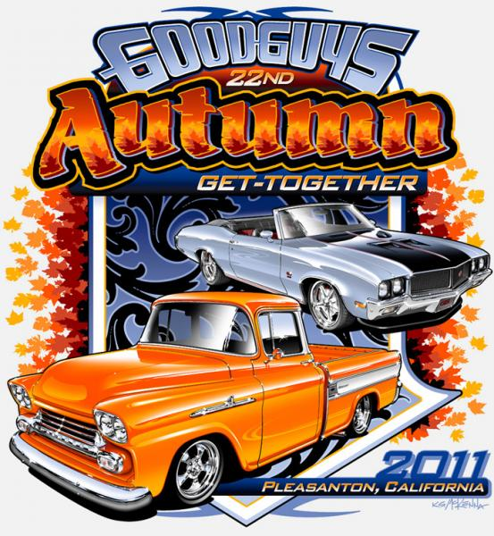 Tshirt Design For The Goodguys Autumn GetTogether Car Show - Good guys car show t shirts