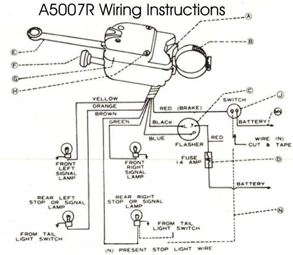 technical wiring issues brake and turn signal the h a m b rh jalopyjournal com VW Turn Signal Wiring Diagram Turn Signal Flasher Wiring-Diagram