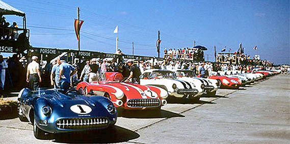 Corvettes at Sebring 12 Hour Grand Prix: 1957