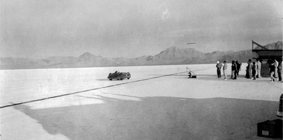 Goldie Gardner at Bonneville 1952
