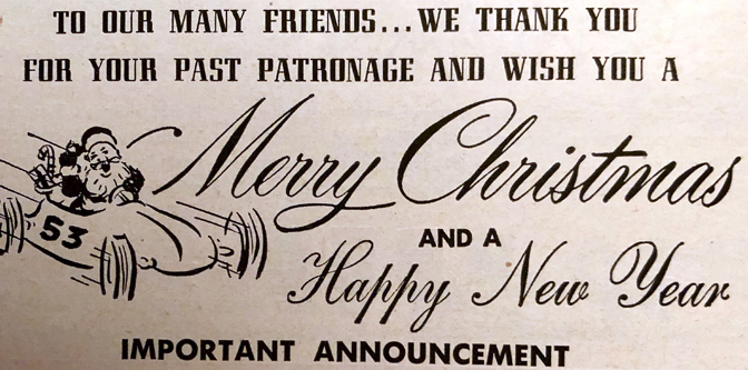 It's December of 1952…