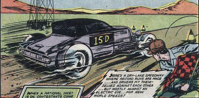 """Hitting the Trap"" Bonneville Comic story 1952"