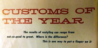 1957 Customs of the Year