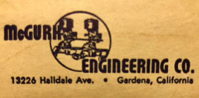 The 1961 McGurk Engineering Catalog