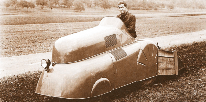 If Porsche raced a tractor at Bonneville…