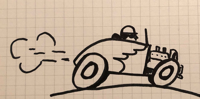 Draw a Hot Rod in 8 Easy Steps!