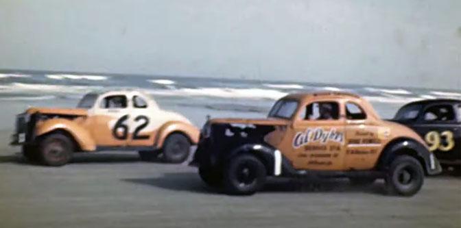 Daytona Beach Racing in Color – 1949!