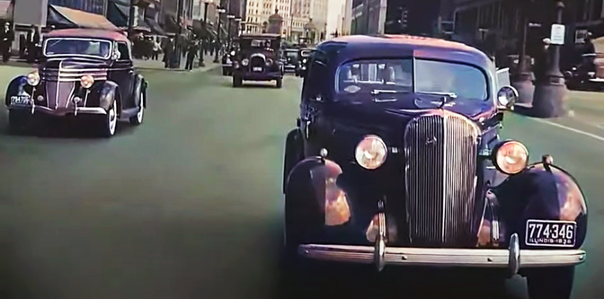 Driving the Streets of Chicago in 1930s and NYC in 1940s…