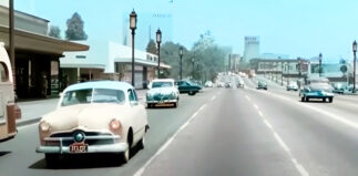 Driving Wilshire Blvd in 1951